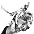 Hussar and horse - Stock Photo