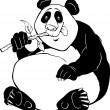 Panda bear coloring page - Stock Vector