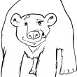 Polar bear coloring page — Stock Vector #7652107