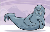 Funny seal — Vector de stock