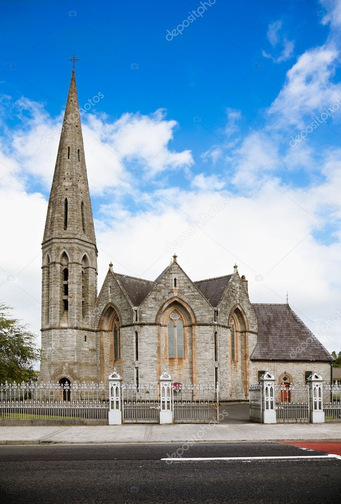 Front view of Holy Trinity Church in Westport, county Mayo, Ireland. — Stock Photo #6876740