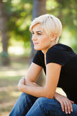 Young woman outdoor — Stock Photo