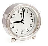 Silver clock — Stock Photo