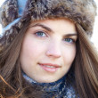 Stock Photo: Young woman portrait in winter