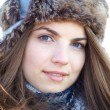 Young woman portrait in winter — Stock Photo