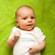 Cute newborn baby boy portrait — Stock Photo #7348841