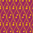 Seamless abstract golden rose pattern — Stock Photo