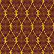 Seamless abstract brown orient pattern — Stock Vector