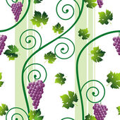 Seamless pink grape pattern — Stock Vector