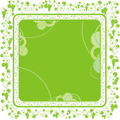 Green grape frame — Stock Vector
