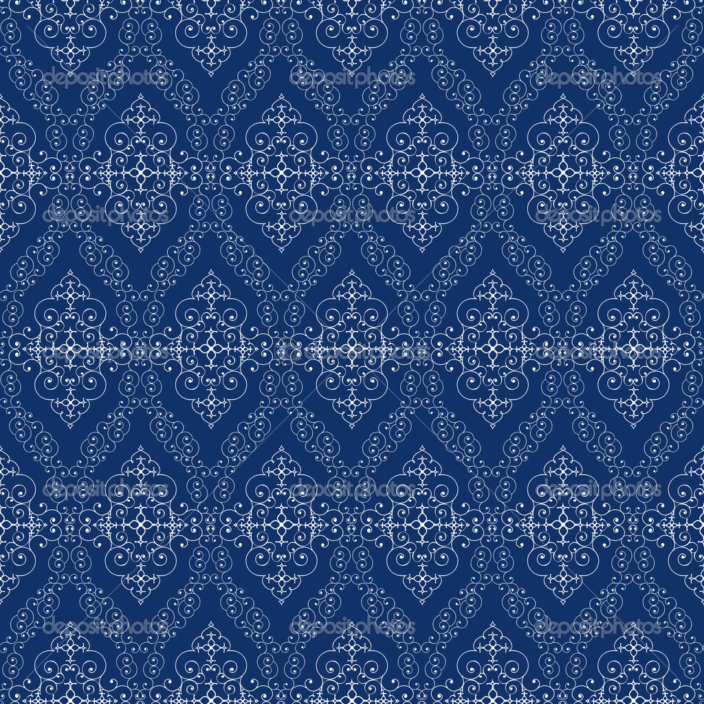 nahtlose abstrakte cyan orient muster stockvektor 6813026. Black Bedroom Furniture Sets. Home Design Ideas