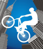 Cyclists in the city — Stock Vector