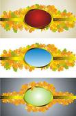 Autumn leaves frame set — Stock Vector