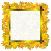 Quadro de folhas de outono — Vetor de Stock