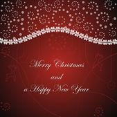 雪のクリスマス カード — ストックベクタ