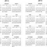2012-2013 calendar — Stock Vector #6755494