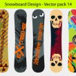 Snowboard design pack 14 — Stock Vector