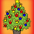 Christmas tree — Stockvector #6919080