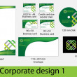 Corporate design pack — Stock Vector