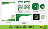 Corporate design pack — Stock Vector