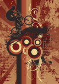Grunge fiets — Stockvector