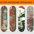 Skateboard design pack 12 — Stock Vector