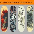 Skateboard design pack 13 — Stock Vector