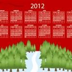 2012 calendar — Stock Vector #7412148