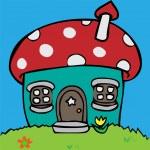 Mushroom huis — Stockvector  #7425912
