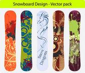 Snowboard design pack 16 — Stock vektor