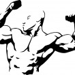 Royalty-Free Stock Imagem Vetorial: Body building