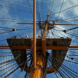Crows nest rigging - Stock Photo
