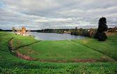 Aleksandro-Svirskiy monastery. Roshchinskoye lake — Stock Photo