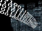 Digital Information City — Stock Photo