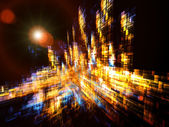 Dynamic Three Dimensional Abstract — Stock Photo