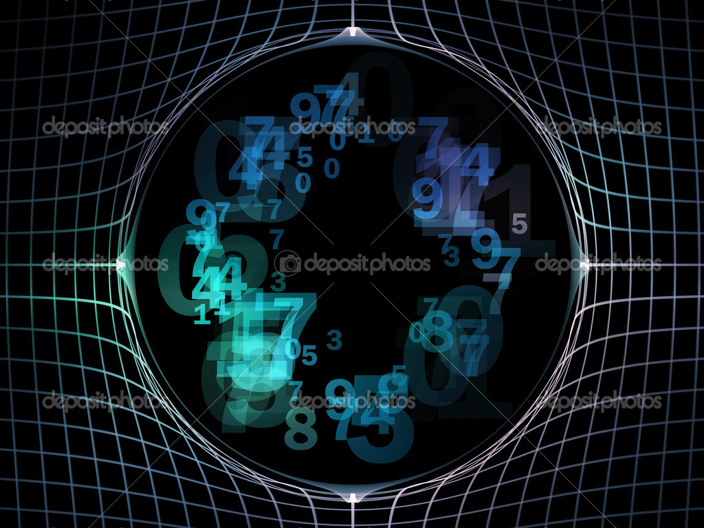 Elegant detailed grid lines and numbers rendered as background on the subject of science, technology, geometry and mathematics — Stock Photo #7140940