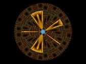 Cerchio frattale — Foto Stock