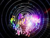 Koło muzyki — Zdjęcie stockowe