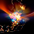 Colorful Abstract Burst — Stock Photo