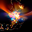 Stock Photo: colorful abstract burst
