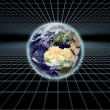 Stock Photo: Earth on Grid