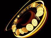 Golden Dollar Spin — Stock Photo