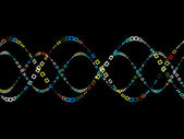 Colorful Sine Wave Pattern — Stock Photo