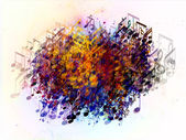 Colorful Splash of Musical Notes — Stock Photo