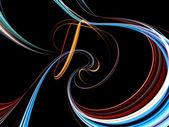 Tre dimensionell virvel abstrakt — Stockfoto