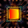 Fractal CPU Chip — Stock Photo