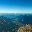 Royalty-Free Stock Photo: Panoramic View Zugspitze German Austrian Boarder