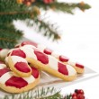 Christmas cookies decorated with real tree branches — Stock Photo #7111238