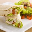 Two avocado wrap with healthy side salad — Stock Photo #7219782
