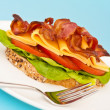 Open blt sandwich — Stock Photo